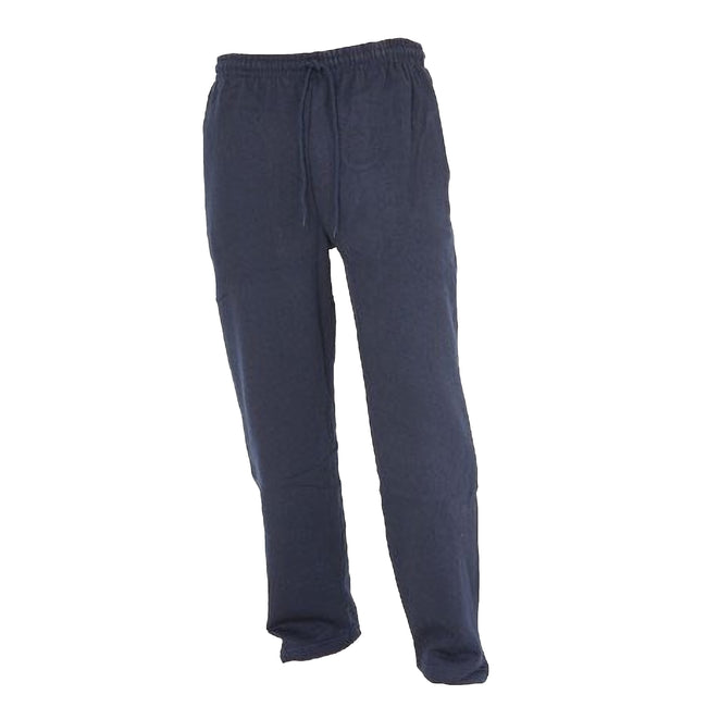 Navy - Front - FLOSO Kids Unisex Jogging Bottoms-Pants - School Wear Range (Open Cuff)