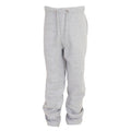 Grey - Front - FLOSO Kids Unisex Jogging Bottoms-Pants - School Wear Range (Open Cuff)