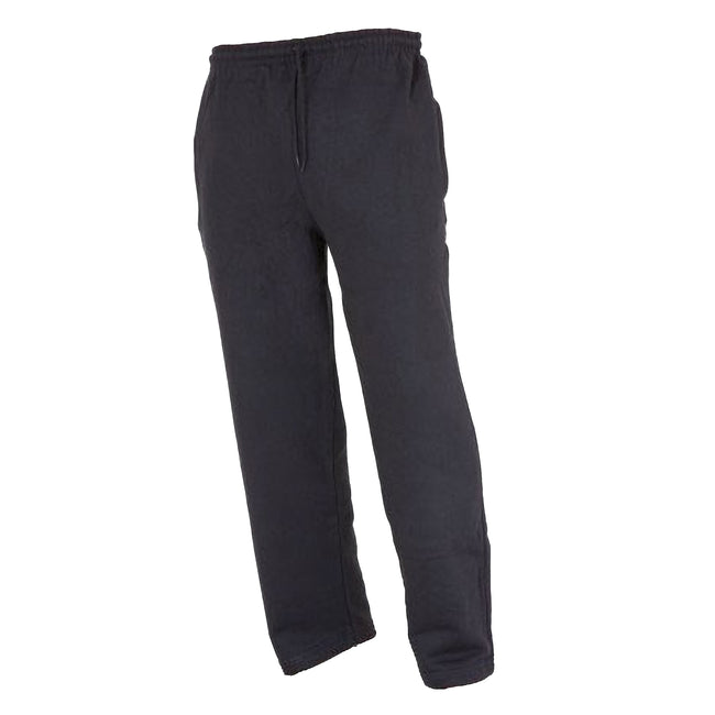 Black - Front - FLOSO Kids Unisex Jogging Bottoms-Pants - School Wear Range (Open Cuff)