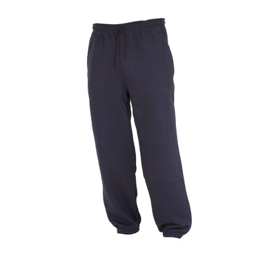 Navy - Front - FLOSO Kids Unisex Jogging Bottoms-Pants - School Wear Range (Closed Cuff)