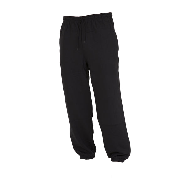 Black - Front - FLOSO Kids Unisex Jogging Bottoms-Pants - School Wear Range (Closed Cuff)