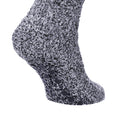 Navy - Back - FLOSO Mens Warm Slipper Socks With Rubber Non Slip Grip