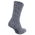 Navy - Front - FLOSO Mens Warm Slipper Socks With Rubber Non Slip Grip