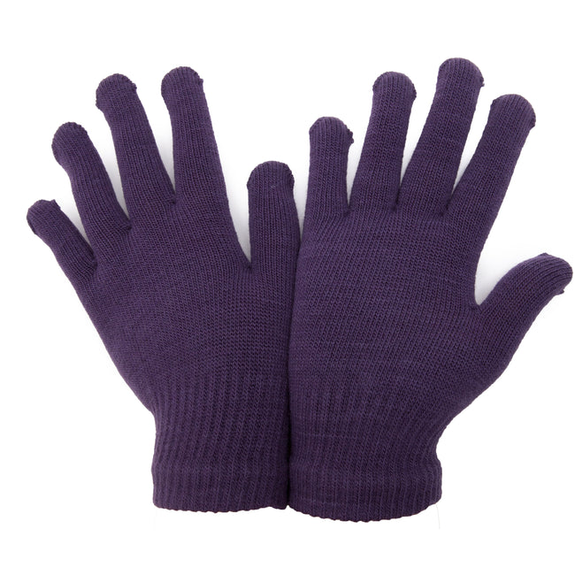 Purple - Front - FLOSO Unisex Magic Gloves