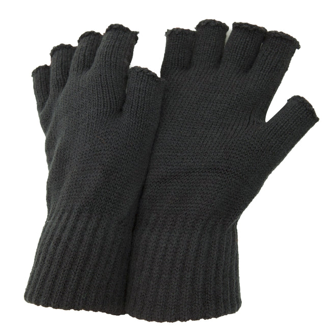 Charcoal - Front - FLOSO Mens Fingerless Winter Gloves
