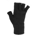 Brown - Front - FLOSO Ladies-Womens Winter Fingerless Gloves