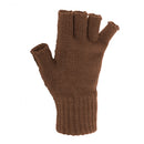 Navy - Front - FLOSO Ladies-Womens Winter Fingerless Gloves