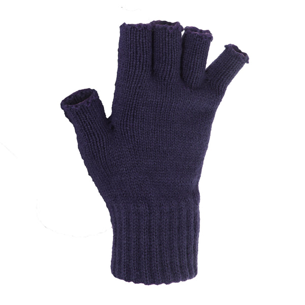 Red - Front - FLOSO Ladies-Womens Winter Fingerless Gloves