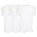 White - Front - FLOSO Mens Interlock Underwear T-Shirt (Pack Of 3)