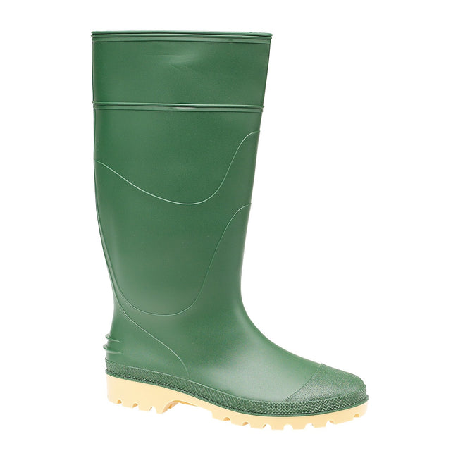 Green - Back - FLOSO Pricebuster Classic Unisex Plain Wellington Boots