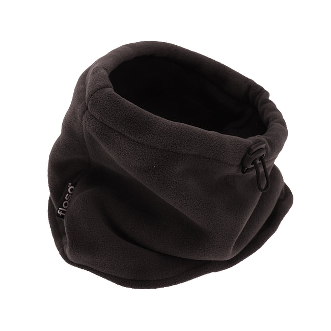 Black - Front - FLOSO Mens Fleece Thermal Winter Neck Snood