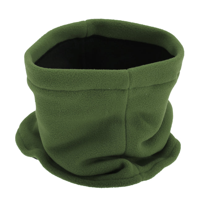 Black - Front - FLOSO Childrens-Kids Fleece Winter Neckwarmer - Snood