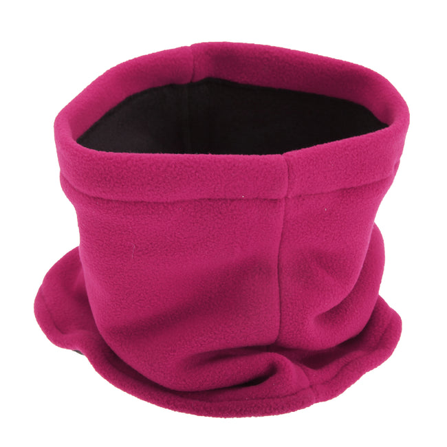 Pink - Front - FLOSO Childrens-Kids Fleece Winter Neckwarmer - Snood