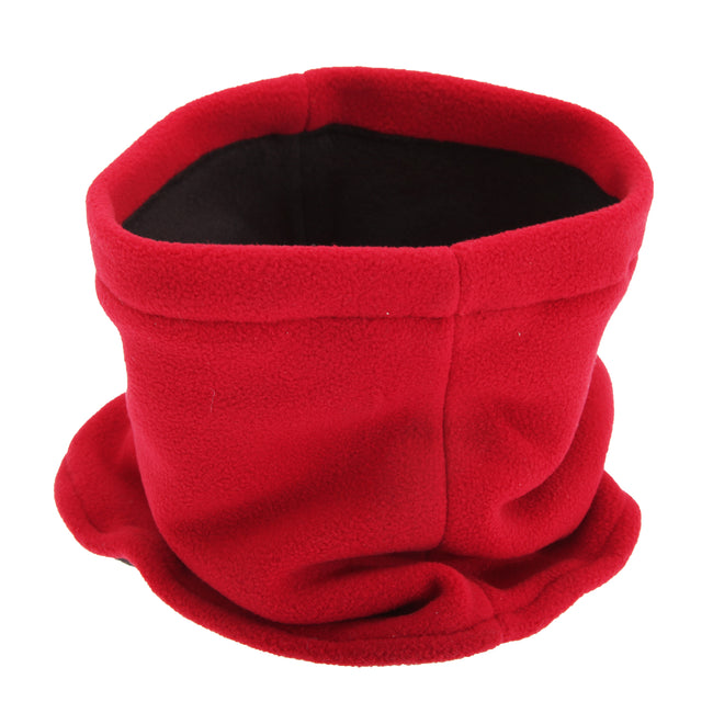 Red - Front - FLOSO Childrens-Kids Fleece Winter Neckwarmer - Snood