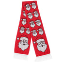 Santa - Front - FLOSO Unisex Christmas Design Winter Scarf With Fringing