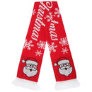 Merry Christmas - Front - FLOSO Unisex Christmas Design Winter Scarf With Fringing