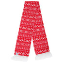 Reindeer - Front - FLOSO Unisex Christmas Design Winter Scarf With Fringing