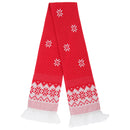 Fairisle - Front - FLOSO Unisex Christmas Design Winter Scarf With Fringing