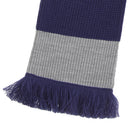 Green-Grey - Front - FLOSO Unisex House Style Knitted Winter Scarf With Fringe