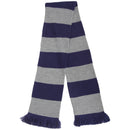 Blue-Silver - Front - FLOSO Unisex House Style Knitted Winter Scarf With Fringe
