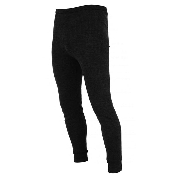 Black - Front - FLOSO Mens Thermal Underwear Long Johns-Pants (Viscose Premium Range)