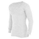 White - Front - FLOSO Mens Thermal Underwear Long Sleeve Vest Top (Viscose Premium Range)
