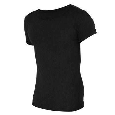 Charcoal - Front - FLOSO Mens Thermal Underwear Short Sleeve Vest Top (Viscose Premium Range)