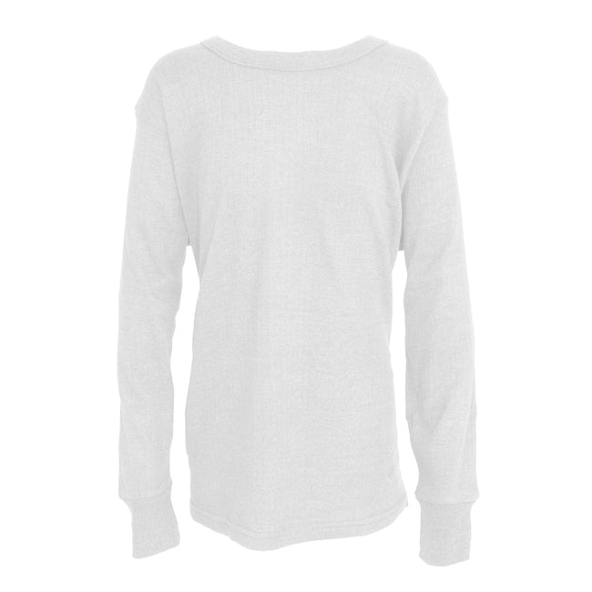 White - Front - FLOSO Unisex Childrens-Kids Thermal Underwear Long Sleeve T-Shirt-Top