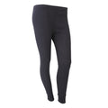 Black - Front - FLOSO Ladies-Womens Thermal Underwear Long Jane-Johns (Standard Range)