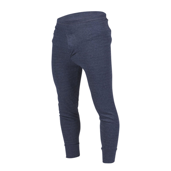Denim - Front - FLOSO Mens Thermal Underwear Long Johns-Pants (Standard Range)