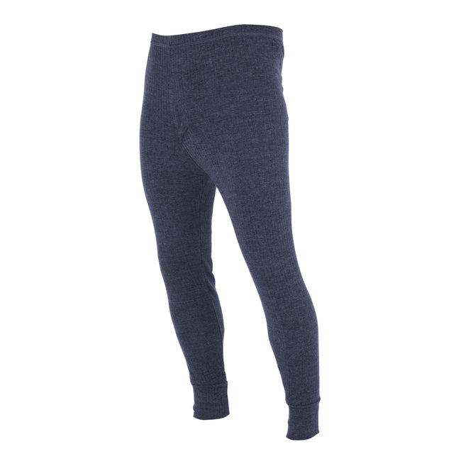 Denim - Back - FLOSO Mens Thermal Underwear Long Johns-Pants (Standard Range)
