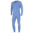 Blue - Front - FLOSO Mens Thermal Underwear All In One Union Suit
