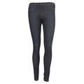 Black - Front - FLOSO Ladies-Womens Jeggings (Jean Look Leggings)