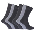 White - Front - FLOSO Womens-Ladies Plain 100% Cotton Socks (Pack Of 6)