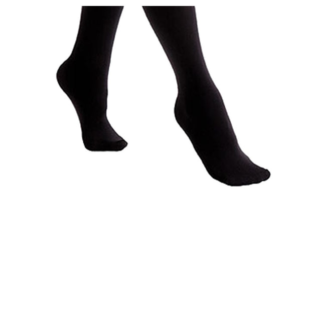 Black - Back - FLOSO Ladies-Womens Black Brushed Thermal Fleece Tights (1 Pair)
