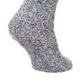 Grey - Side - FLOSO Ladies Warm Slipper Socks With Rubber Non Slip Grip