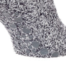 Grey - Lifestyle - FLOSO Ladies Warm Slipper Socks With Rubber Non Slip Grip
