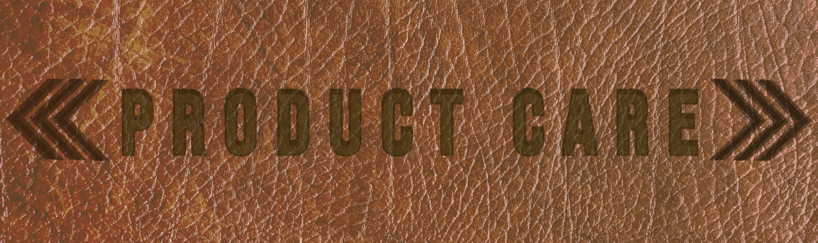 MoonLake Designs Product Care - Leather branded with the words product care