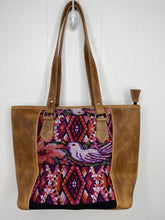 Load image into Gallery viewer, MoonLake Designs handmade unique Carmela Small Everyday Tote in Pear Tan Leather – back view