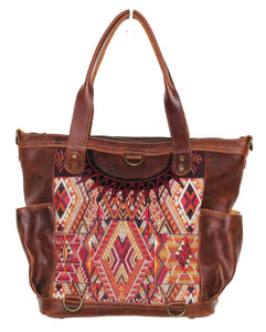 ELENA Medium Convertible Day Bag - Leather Pocket 0005