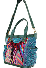 Load image into Gallery viewer, ELENA Medium Convertible Day Bag - Textile Pocket 0013