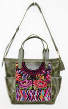 Load image into Gallery viewer, GABRIELLA Large Convertible Day Bag - Leather Pocket 0016