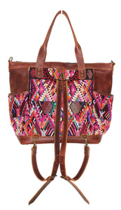GABRIELLA Large Convertible Day Bag - Textile Pocket 0010