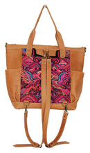 Load image into Gallery viewer, GABRIELLA Large Convertible Day Bag - Leather Pocket 0014