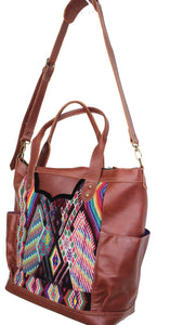 GABRIELLA Large Convertible Day Bag - Leather Pocket 0013