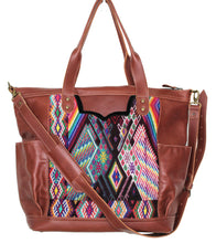 Load image into Gallery viewer, GABRIELLA Large Convertible Day Bag - Leather Pocket 0013