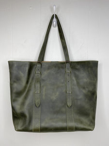 MoonLake Designs Isabella Large Everyday Tote in Dark Green Full Grain Leather