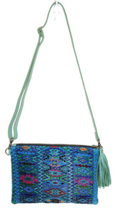 MoonLake Designs Lola small bag in teal leather