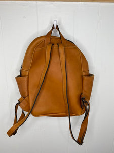 MoonLake Designs Paloma backpack full leather back view showing adjustable straps