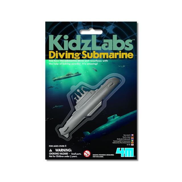diving submarine ages 6+ kidzlabs 4M playwell classic toy baking soda water dives diver sub ascend toy toys science scientific experiment education educational learning water
